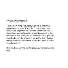 God Will Never Ever Ever Forsake