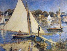 Renoir: Sailboats at Argenteuil    1874
