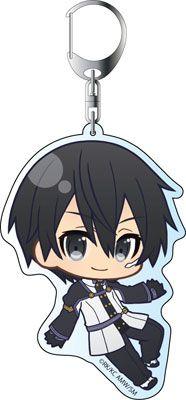 AmiAmi [Character & Hobby Shop] | Sword Art Online the Movie: Ordinal Scale - Deka Keychain: PuniChara Kirito(Pre-order)
