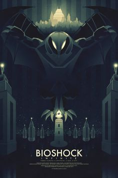 Bioshock Infinite - Simplistic Poster Illustrations by Ron Guyatt