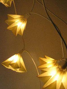 Papier Lichterkette gefaltet Waldorf