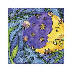 Moon Dance  Art Print 6 x 6 by crookedlittlestudio on Etsy, $10.00