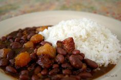 Arroz con Habichuelas are perfect by itself or with a meat, such as porkchops. I love this fundamental Puerto Rican recipe. http://www.puertoricodaytrips.com/habichuelas-recipe/