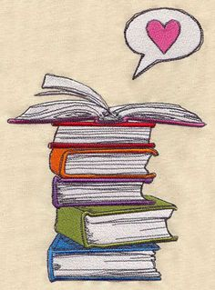 Embroidery Designs at Urban Threads - Book Love