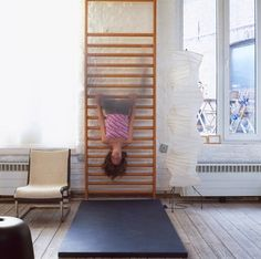15 Radical Kids' Climbing, Swinging, and Sliding Spaces: Remodelista Kids Climbing, Indoor Climbing, Climbing Wall, Loft Spaces, Kid Spaces, 5 W, Kids Corner, Kid Beds, Boy Room