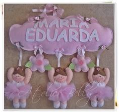 Ballerinas....such an adorable idea for a little girls room!!