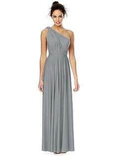 Lori: Best Lady's Dress in Grey Twist Wrap Dress: Long http://www.dessy.com/dresses/twist-long/