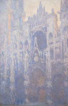 Claude Monet (1840-1926) 1894: The West Front of Rouen Cathedral - Early Morning oil on canvas