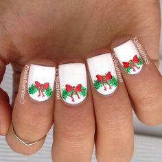 christmas by just1nail #nail #nails #nailart Holiday Nail Art, Christmas Nail Art Designs, Winter Nail Designs, Xmas Nails, Christmas Nails, Christmas Ideas, Super Cute Nails, Pretty Nails, Birthday Nail Art