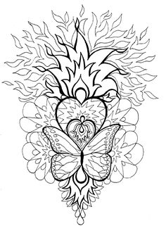 Mandala Coloring Pages for Adults | http://www.junemoon.com/page04.gif
