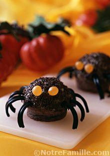 cupcakes au chocolat et aux yeux | recette | yeux, halloween et