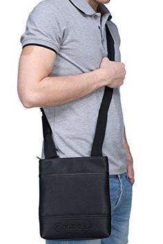 Calvin Klein – Sac K50k502512 Bastian Flat 001 Black: Sacoche Calvin Klein – Sangle ajustable – Compartiment principal zippé – Poches…