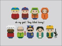 South Park - Cross Stitch Patterns - CloudsFactory