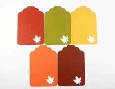 25 Fall Tags Maple Leaf Tags Thanksgiving Favor by SammysCraftShop,