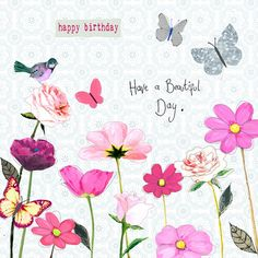 Happy Birthday Greetings Friends, Happy Birthday Art, Happy Birthday Pictures, Birthday Blessings, Birthday Wishes Cards, Birthday Messages, Vintage Birthday Cards, Year Quotes, Sunday Quotes