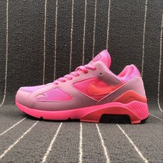 Buy Unisex Nike Air Max 180 Pink Gray Nike Air Max 180 UK in the shop.We guarantee that the shoes you buy are authentic, and we also offer you free home delivery. Air Max Sneakers, Sneakers Nike, Air Max 180, Pink Grey, Me Too Shoes, Nike Air Max, Unisex, Stuff To Buy, Fashion