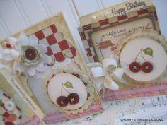 cute cherry cards