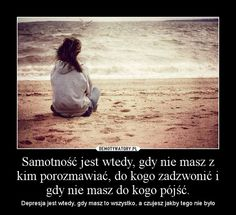 samotność Loneliness, Motto, Memes, Words, Quotes, Movie Posters, Amor, Frases, Miss You