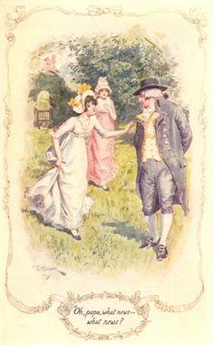 Ilustraciones de C.E. Brock para la edición de 1907 de Orgullo y...