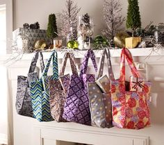 You may see these in your future.  Sachi Set of 6 Insulated Market Totes — QVC.com $33.24