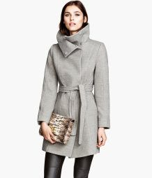 "Dear Santa, H gray ""Short"" Coat. I want a knee length coat  to wear over dresses for a nice evening. Like this one!"