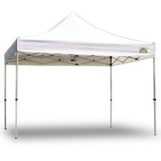 Caravan Canopy 10 by 10 Traveler Commercial Instant Canopy, White by Caravan Canopy. $278.24. The Traveler™ offers complete canopy functionality for any occasion. It's rust resistant anodized alumunum frame is 30% lighter than most steel canopy frames and is ideally engineered to ensure simple set-up and take down. Traveler™ is also equipped with a premium polyester canopy fabric top for durable shade. Traveler(tm) is so portable that it folds down to a very compact siz...