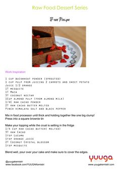 A gorgeous #RawFood dessert recipe to try out which we know you're going to adore! #RawVegan #YkLove