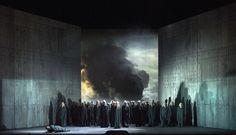 Macbeth at the Vienna State Opera. Directed by Christian Räth, set and costume design by Gary McCann, video design by Nina Dunn, lighting design by Mark McCullough