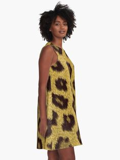 """Leopard"" A-Line Dress by bubbliciousart 