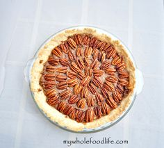 Grain Free Pecan Pie.  A healthier version of the classic recipe.  No added sugar and totally delish!  Vegan, gluten free and paleo.