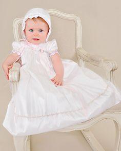 Tess Silk Christening Dress