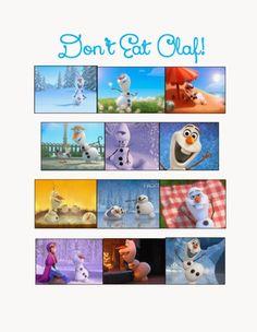 Dont Eat Olaf game, Frozen birthday party, Frozen party games and food labels Disney Party Games, Frozen Party Games, Olaf Party, Disney Frozen Party, Frozen Themed Birthday Party, Slumber Party Games, Carnival Birthday Parties, Birthday Party Games, Disney Fun