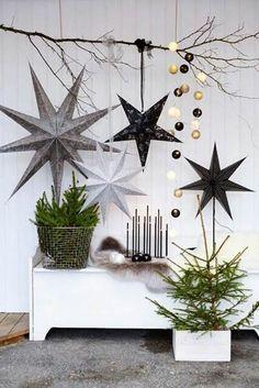 Visita el post para encontrar ideas para decorar de estrellas de Navidad tu casa. Este adorno navideño nos ha fascinado. ¡Es muy original! Para más pines como éste visita nuestro tablero. Espera!  > No te olvides de guardarlo para despúes! #estrellas #navidad #estrellasnavidad #adornosnavideños