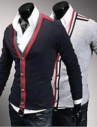 Men's Cardigan , Cotton Blend Long Sleeve