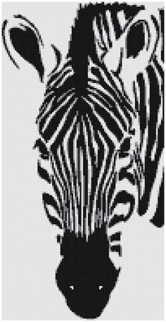 Zebra II a Counted Cross Stitch Pattern by WooHooCrossStitch