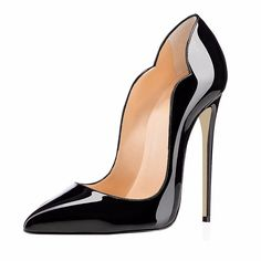 6c2f1a8f7cc8c Amourplato Women's High Heel Cut out Patent Pumps Pointed Toe Party Dress  Thin Heels Stiletto Shoes Closed Toe 12cm Height-in Women's Pumps from Shoes  on ...