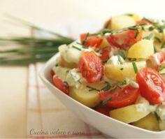 insalata di patate con salsa yogurt