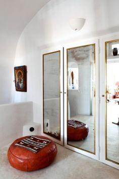 Creative-White-Cob-Bedroom-Closets-Mirror-Leather