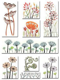 Seedheads Just so pretty. Naturally drawn to the bluish panoramic shaped print… Seedheads Just so pretty. Naturally drawn to the bluish panoramic shaped print toward the middle. Doodle Drawings, Doodle Art, Doodles, Motif Floral, Zentangle Patterns, Zentangles, Background Patterns, Textile Art, Flower Art