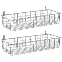 Wall Mounted Wire Baskets, Wire Basket Shelves, Metal Wall Basket, Wall Basket Storage, Hanging Fruit Baskets, Metal Baskets, Hanging Shelves, Baskets On Wall, Shoe Basket