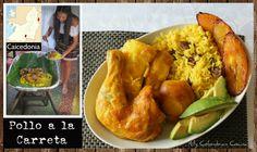 Pollo a la Carreta – Wheel Barrow Chicken. Achiote, Cuban Recipes, Healthy Recipes, Colombian Food, Wheelbarrow, Baked Potato, Carne, Main Dishes, Food And Drink