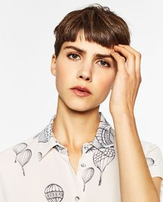Image 2 of BALLOONS-PRINT BLOUSE from Zara