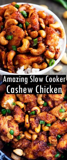 amazing chicken cooker cashew slow Amazing Slow Cooker Cashew ChickenYou can find Slow cooker recipes and more on our website Slow Cooking, Cooking Recipes, Tasty Slow Cooker Recipes, Chinese Slow Cooker Recipes, Crock Pot Chinese, Healthy Slow Cooker, Best Slow Cooker, Slow Food, Slow Cooker Huhn