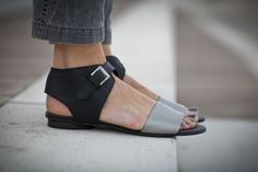 10 Sale Chloe Black Sandals Black and Silver Leather by abramey, $190.00