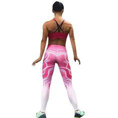 Women High Waist Yoga Fitness Leggings Running Gym Stretch Sports Pants  Trousers cca12bd8f50