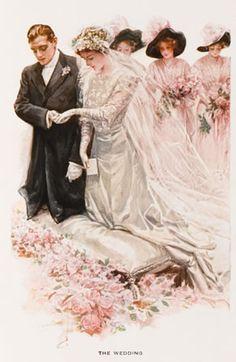 ♔ Edwardian Bride & Groom