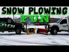 Snow Plowing Big Parking Lots With 2 Plow Trucks, Western Plow and Sno-Way Plow Snow Plow, Parking Lot, Lawn Care, Westerns, Monster Trucks, Big, Landscaping, Youtube, Lawn Maintenance
