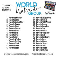 Doodlewash® - AUGUST 2017 CHALLENGE: Your Favorite Things