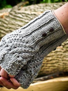 """Knit Fingerless Gloves Worsted weight chunky yarn - size 9 needles - cast on 28.. (fairly loose 3"""" above wrists)..."""
