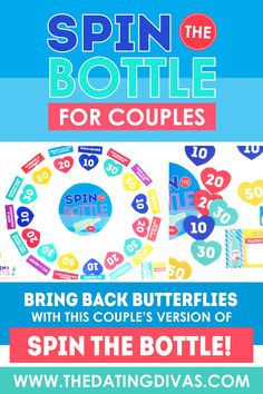 Spin the Bottle for Couples - From The Dating Divas Turn up the heat in your marriage TONIGHT by playing this spicy version of spin the bottle! A romantic DIY bedroom game for couples!